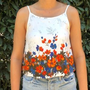 Urban Outfitters Kimchi Blue Floral Tank Top